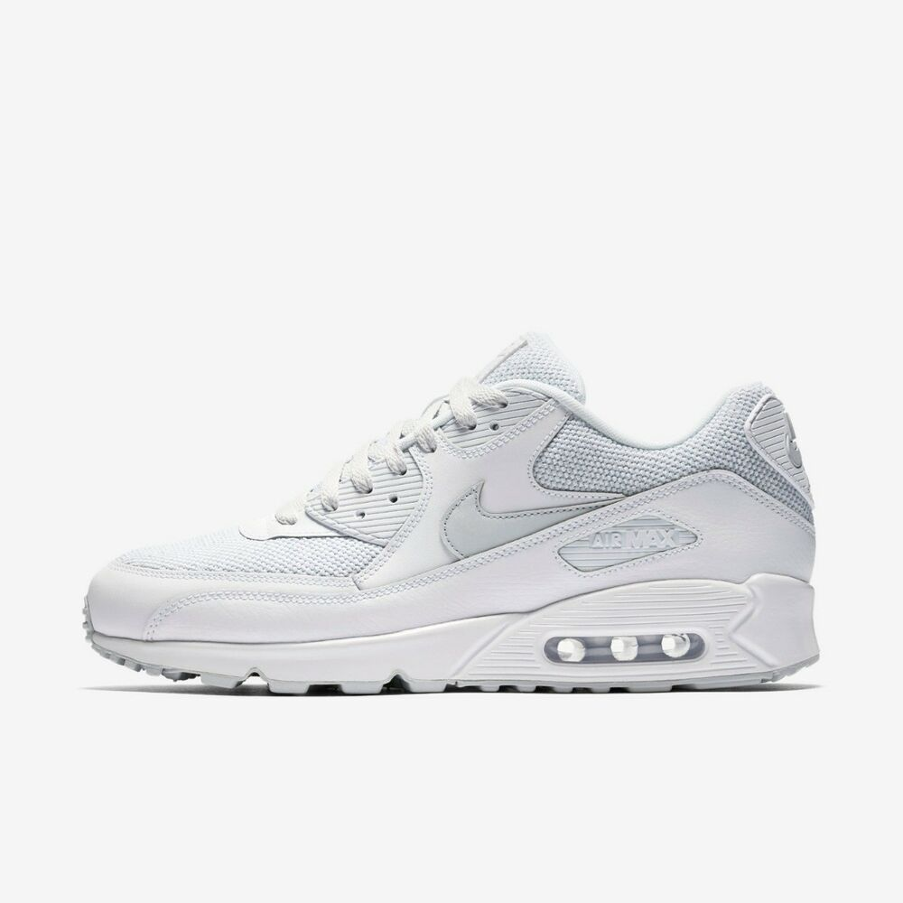Nike Running Trainer Nike Air Max 90 Mens Running Trainer Shoe Size 6 7 7 5 White Ebay