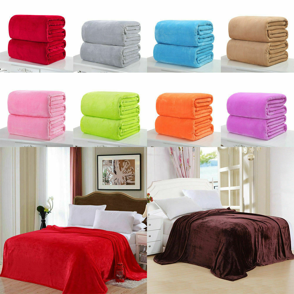 Sofa King Queen Throw Soft Plush Fleece Blanket Mink Sofa Home Bed Luxury King