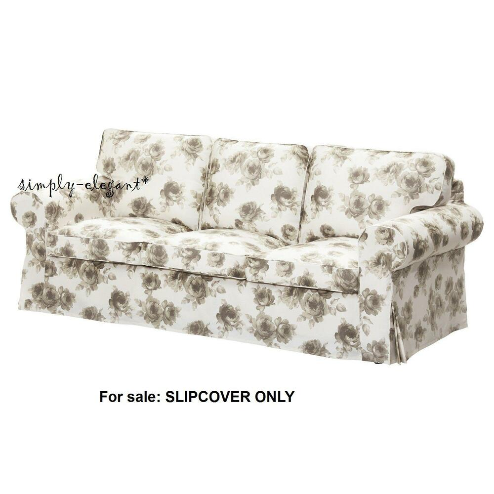 Ektorp Sofa From Ikea Ikea Cover For Ektorp Sofa 3 Seat Sofa Slipcover Norlida White Beige Floral New Ebay