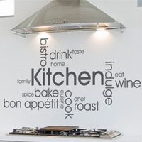 Kitchen Wall Art Words Quote, Wall Sticker, Decal, Modern ...