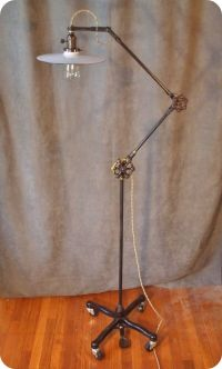 Vintage Industrial Floor Lamp - Machine Age Task Light ...
