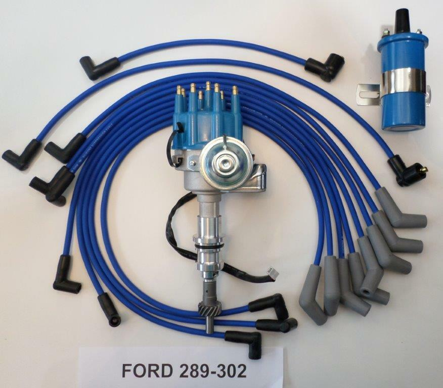 SMALL BLOCK FORD 289-302 BLUE Small HEI Distributor + 45K Coil +