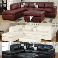 Sectional sofa Leather Sofa set Sectional couch 3 Pc ...