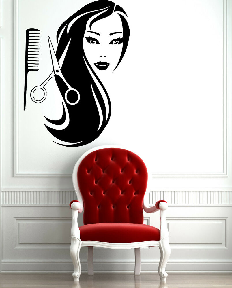 Arte Salon And Spa Female Face Hot Sexy Hair Spa Salon Mural Wall Art Decor Vinyl Sticker Z597 804551455568 Ebay