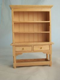 Kitchen Hutch - Oak Finish T4360 miniature dollhouse ...