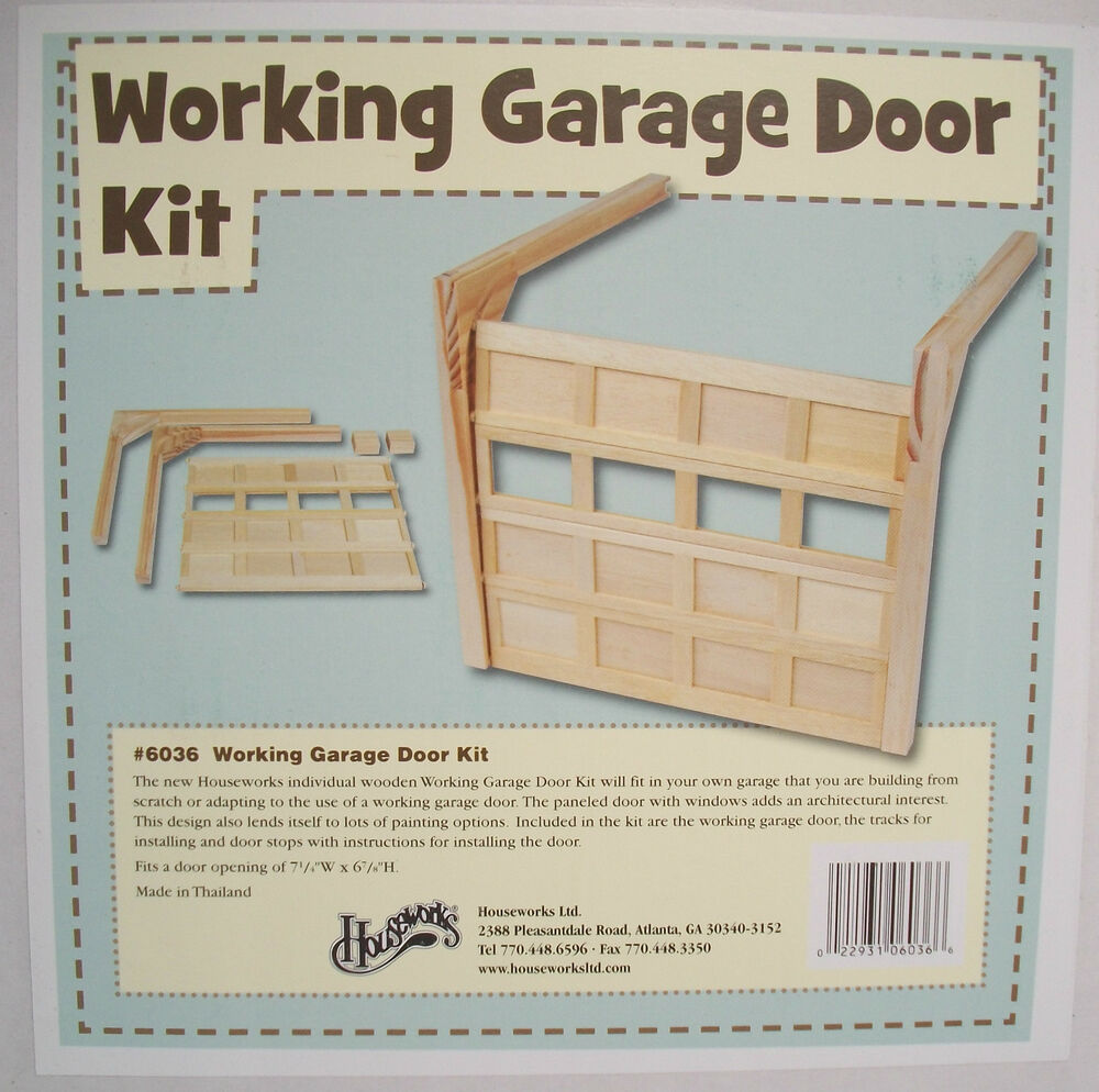 Garage Door Repair Jackson Mi Garage Door Working Kit 6036 Dollhouse Miniature 1 12 Scale Houseworks Wood Ebay