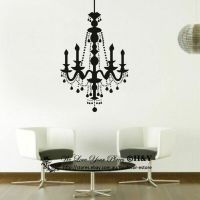 Candle Chandelier Removable Wall Stickers Vinyl Wall ...