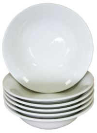 6 x White Soup Cereal Catering Restaurant Bowls 7 ...
