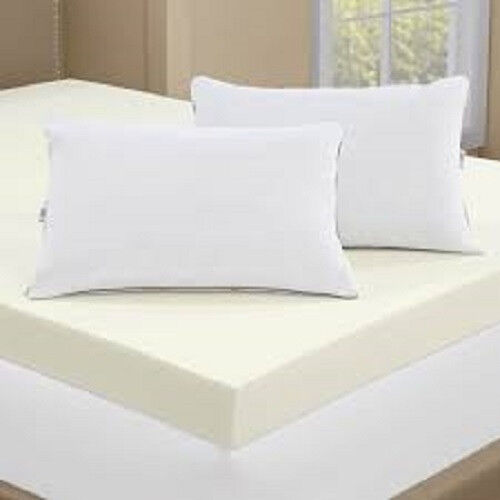 New Serta 4 Inch Memory Foam Mattress Topper With 2
