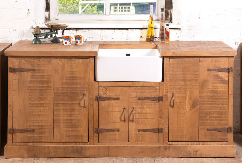 Kitchen Islands For Sale Ebay Rustic Belfast Sink Kitchen Unit Hand Made | Can Be Made