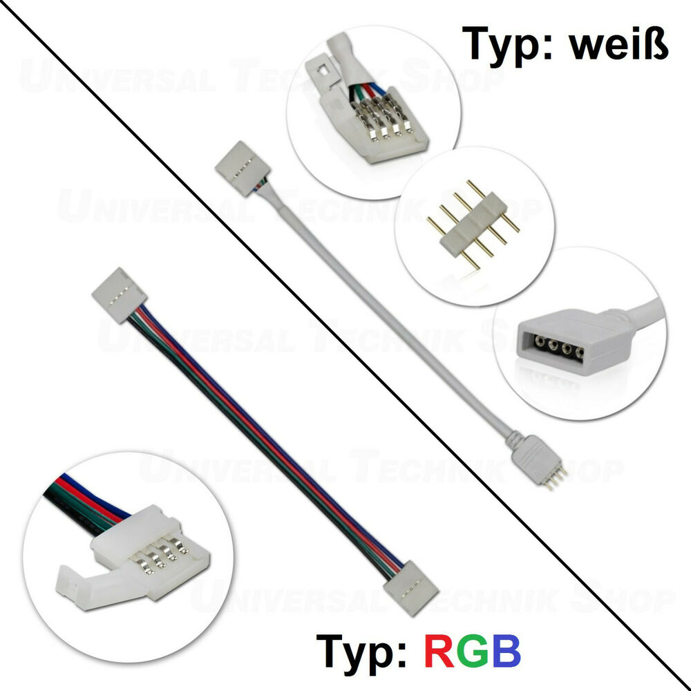 Led Stecker Led Rgb Strip Verbinder / Schnellverbinder, Kabel, 4-pin