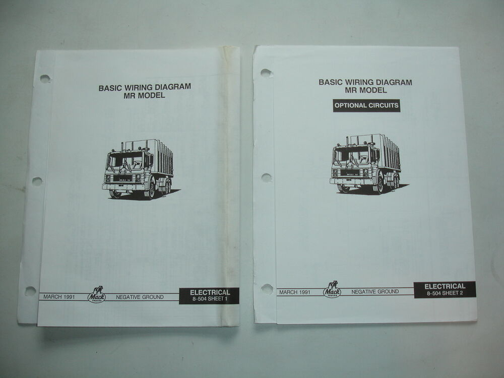 Mack Trucks MR Chassis WIRING DIAGRAM Electrical Schematic Shop