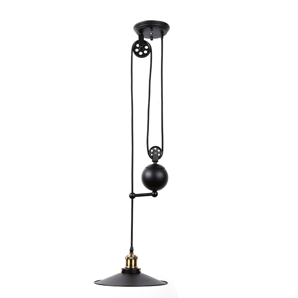 Pendelleuchten Verstellbar Vintage Edison Industrial Pulley Pendant Light Adjustable
