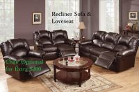 Sofa Couch Leather sofa Furniture 2 Pcs Living room set ...