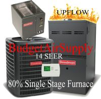 2 Ton Goodman 14 seer 80% 40K btu Single stage UPFLOW Gas ...