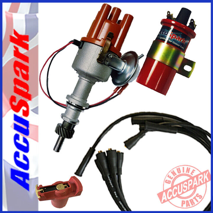Ford Pinto AccuSpark Stealth Electronic Distributor,Black Leads