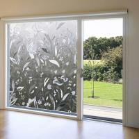 Clear Flower 3D Decorative Glass Window Door Vinyl Static