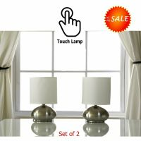 Nightstand Bedroom Side End Table Lamp Light On Off Touch ...