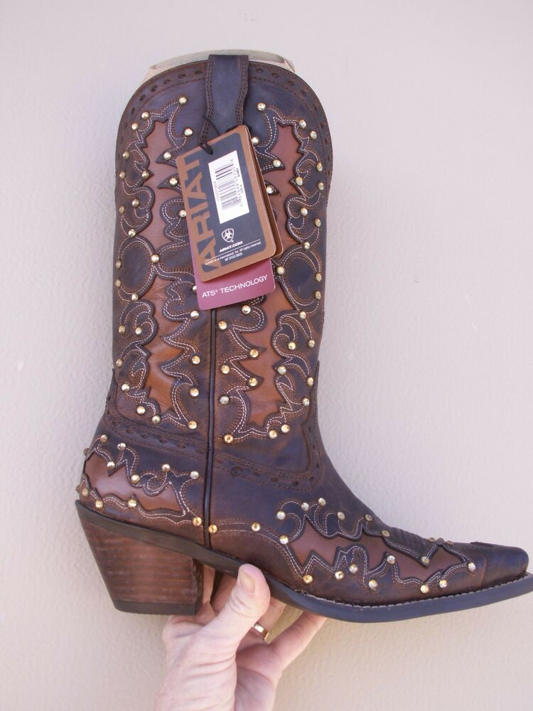 Ariat Dandy Cowboy Boots Sassy Brown 10007964 W Bling
