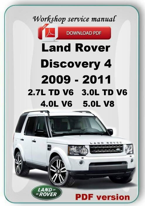 LAND ROVER DISCOVERY 4 L319 LR4 FACTORY WORKSHOP REPAIR MANUAL CD eBay