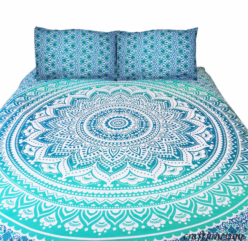 Boho Quilt Covers Australia Ombre Mandala Boho Duvet Cover Queen Indian Quilt Cover Cotton Throw Doona Cover Ebay