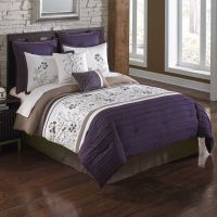 August 7-Piece Full Comforter Set In Plum and Brown | eBay