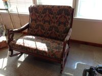 Double wide Upholstered rocking chair | eBay
