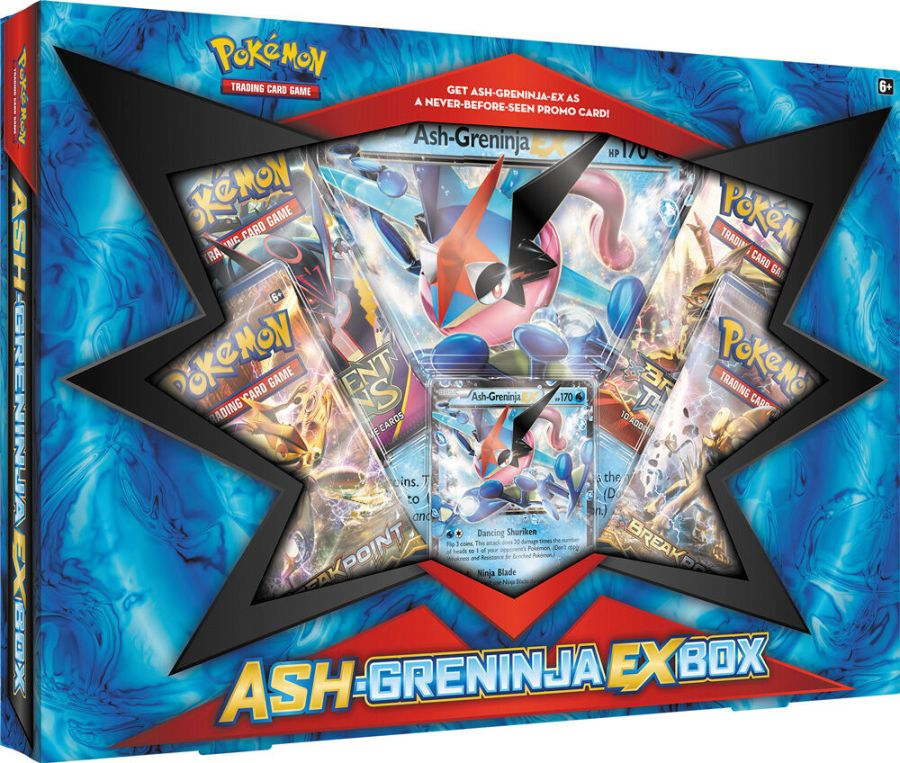 Ash-Greninja EX Booster Box POKEMON TCG Fates Collide Sealed Packs and Promo