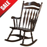 Wood Rocking Chair Vintage Chairs Antique Seat Furniture ...