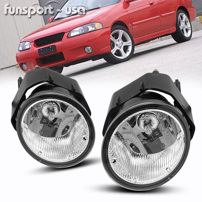 for 00-01 Nissan Maxima / 00-03 Sentra Clear Bumper Fog Light Lamps