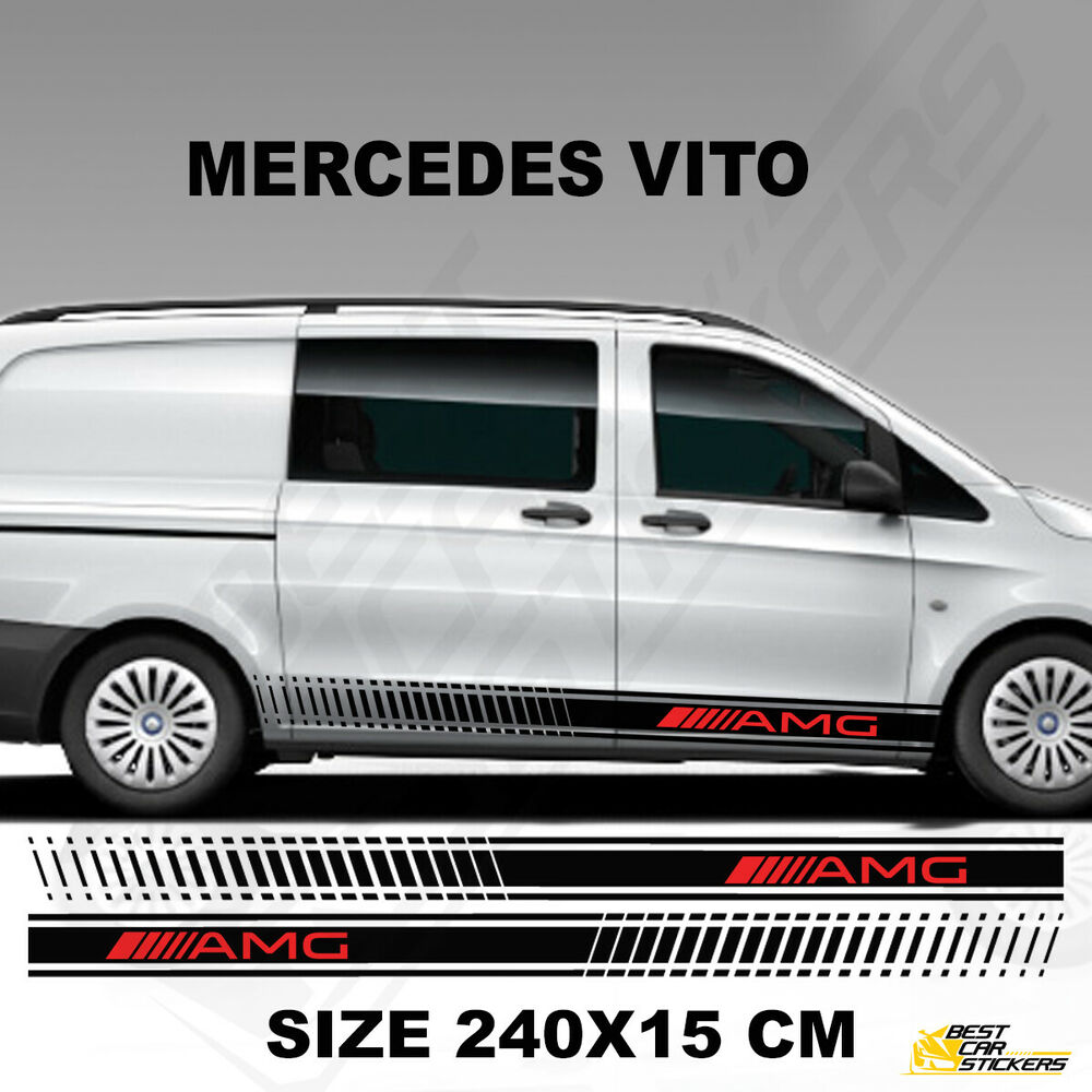Mercedes Neuf Vito Fits Mercedes Vito Amg Side Stripes Car Decal Vehicle Graphics Stickers Ebay