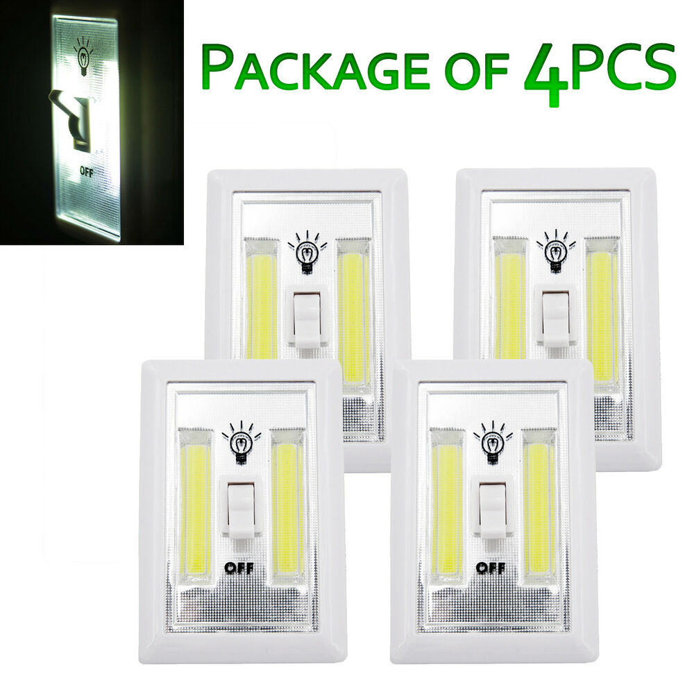 200 Lumen Cordless Led Cob Night Light 200 Lumen Led Switch Battery Powered Multi Function Ebay
