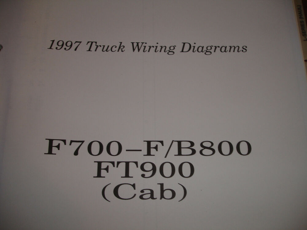 1997 Ford Truck F700 F800 B800 FT 900 Electrical Wiring Diagram