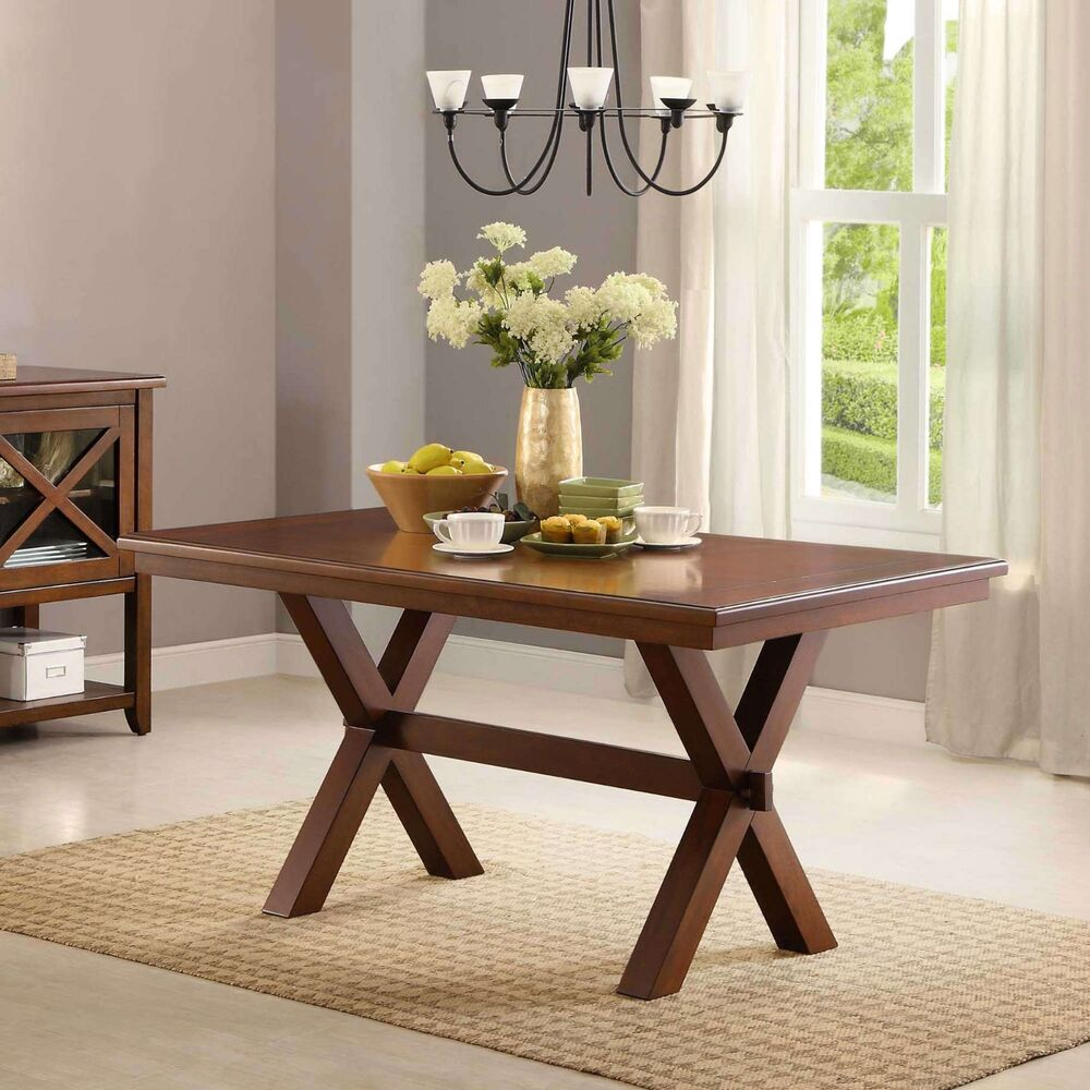 Breakfast Room Tables Farmhouse Dining Room Table Wood Kitchen Breakfast Tables 6 Person Rectangular Ebay