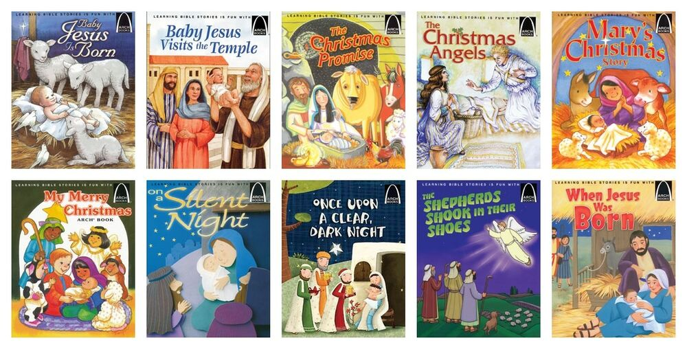 NEW Arch Book Christmas Titles Set of 10 Paperback Bible Stories