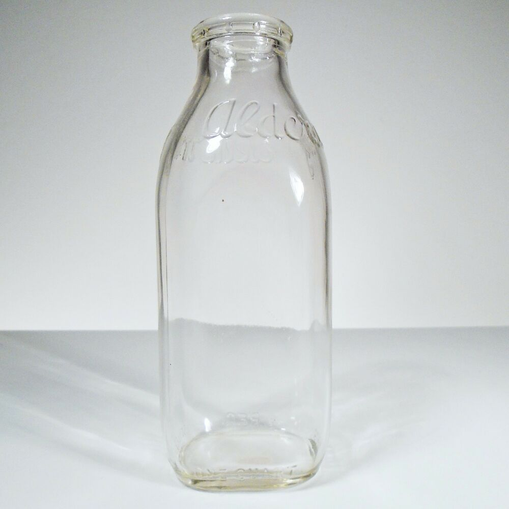 Milk Bottles For Decoration Vintage Alderney Clear Glass Milk Bottle Kitchen Home Decoration Ebay