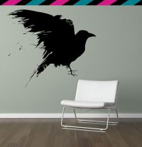 Crow Raven Bird Wing Wings Feather Feathers Wall decal | eBay