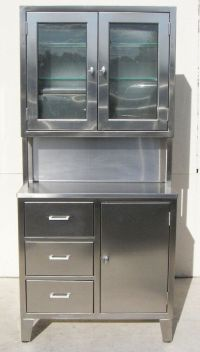 Stainless Steel Medical Storage Cabinet, Kennedy Style, w ...