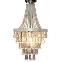 OLIVIA Staircase Chandelier Crystal Pendant Chrome French ...