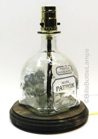 PATRON SILVER TEQUILA Bottle TABLE LAMP Bar Man Cave ...