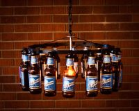 Beer Bottle Chandelier Beer Rack Light Lighting Beer Decor ...