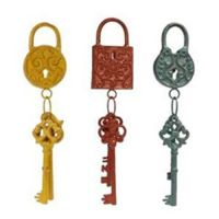 Metal Key and Lock Wall Decor Shabby Chic Steampunk Home ...