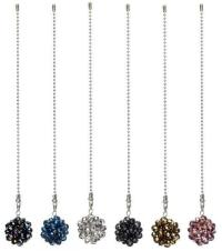 Ceiling Fan Chain Pull Ornament Decorative BLING BALL Fan ...