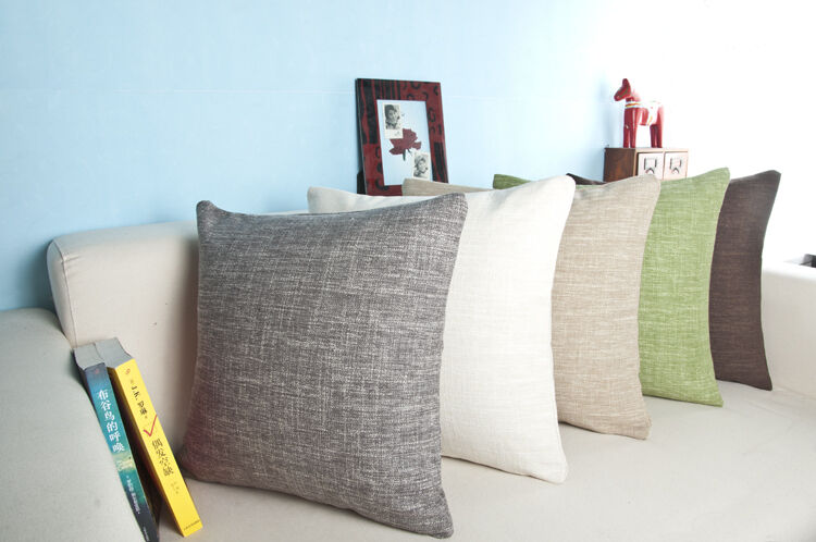 Sofa Cushions That Hold Up Modern Linen Sofa Hold Pillow Solid Color Soft Car Back