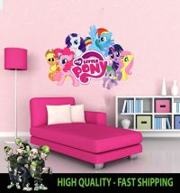 PRINTED WALL ART WALL MY LITTLE PONY GRAPHIC STICKER DECAL ...