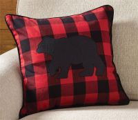 "Park Designs 18"" Buffalo Check Bear Throw Pillow Accent ..."