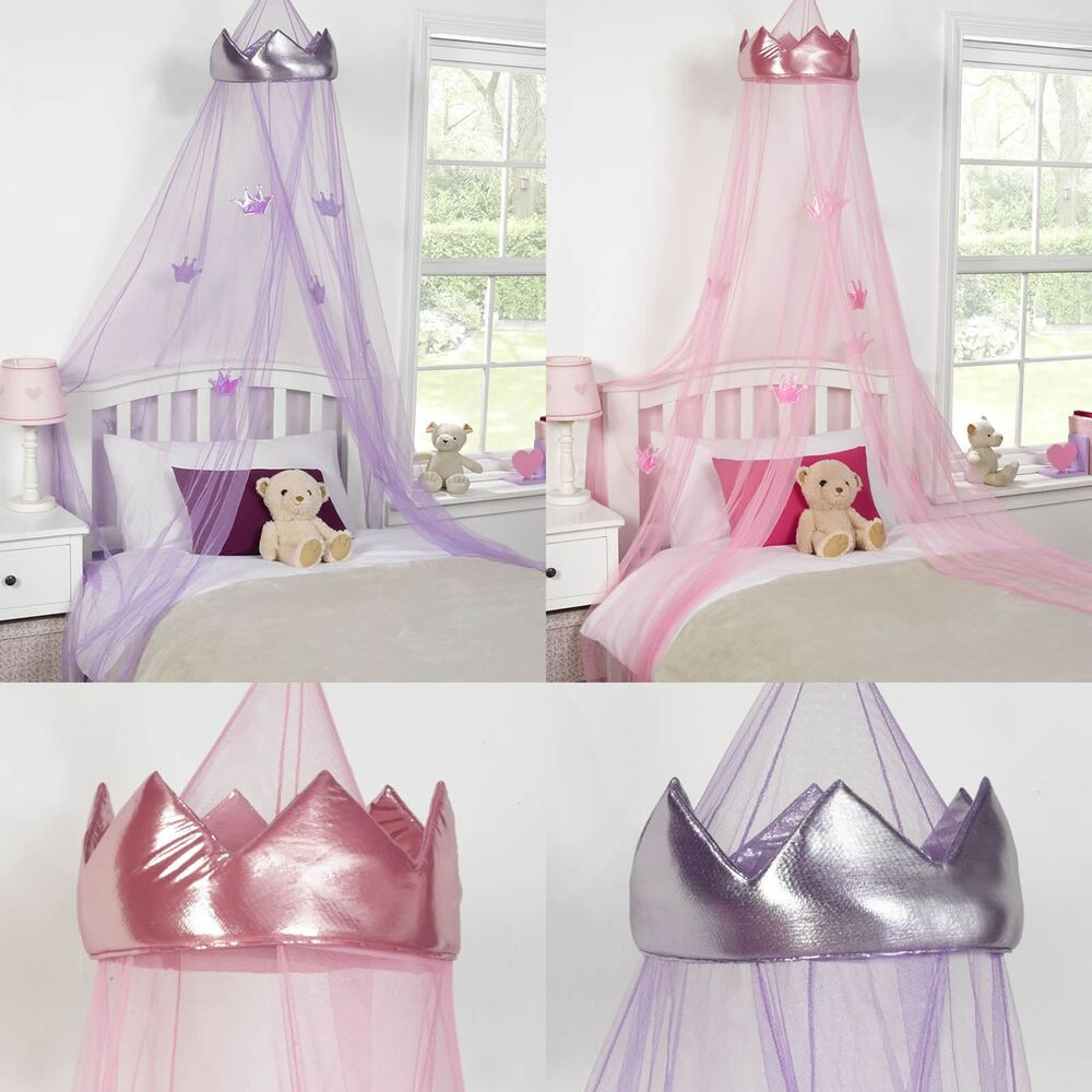 Kinderbett Baldachin Princess Crown Bed Canopy Kids Childrens Girls Insect