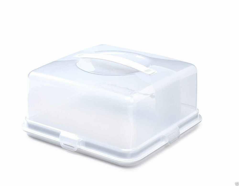 Plastic Cake Box Tub Cake Carry Carrier Storage Container