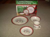 Royal Seasons Stoneware SNOWMAN 16 Piece dinnerware Dishes ...