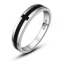 14K White Gold Pl. Solid 925 Sterling Silver Classical ...
